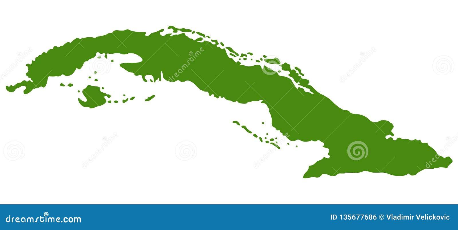 Carte Cuba Amerique.Carte Du Cuba Republique De Cuba Illustration De Vecteur