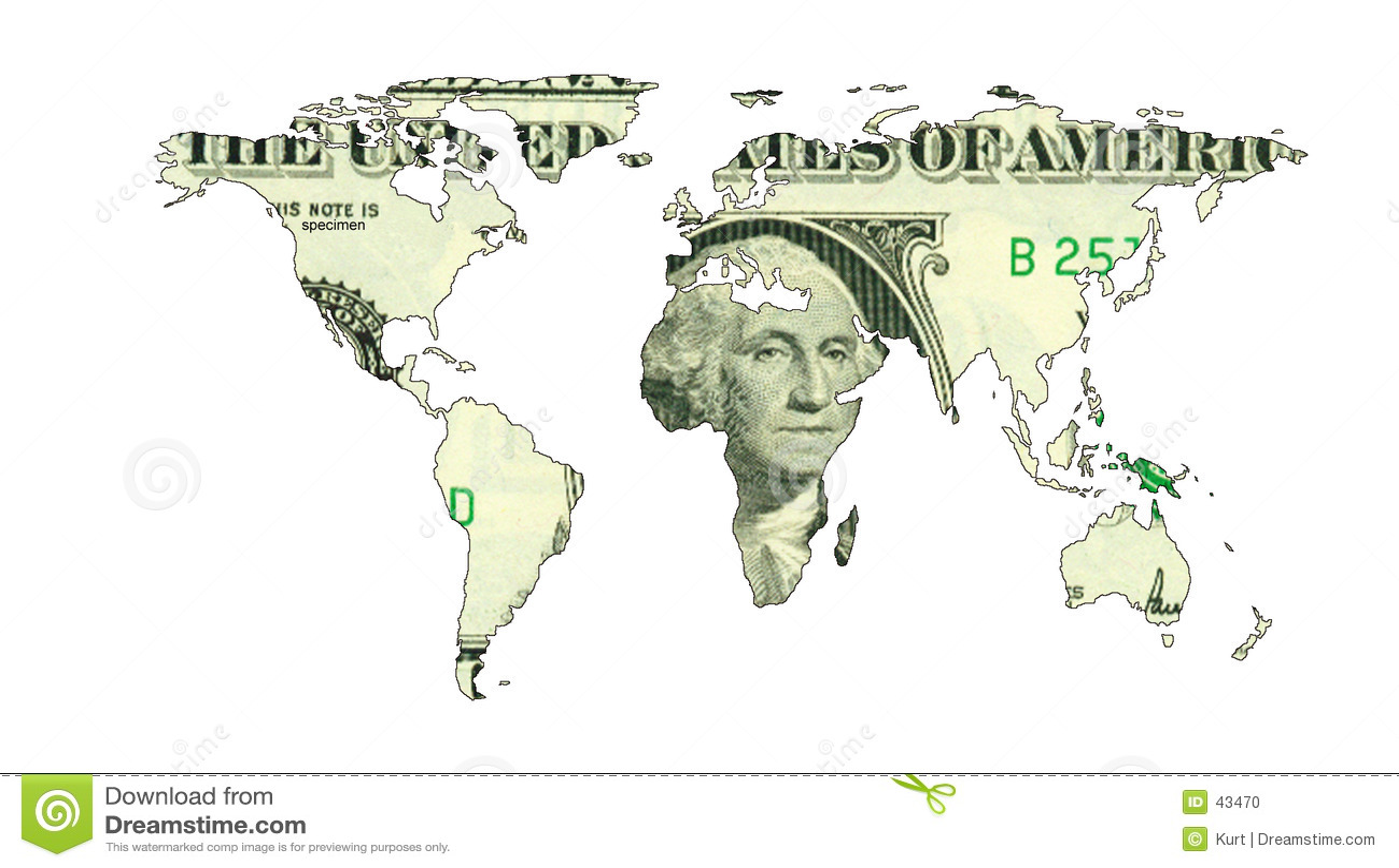 Carte du dollar du monde