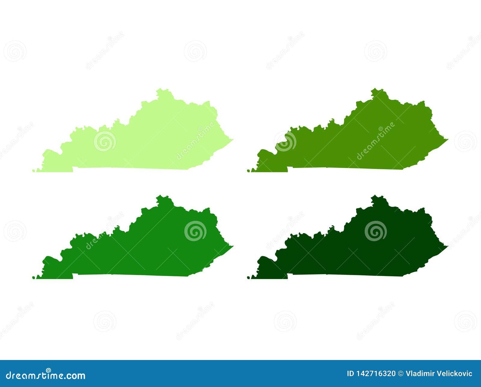 Carte du Kentucky - Commonwealth du Kentucky