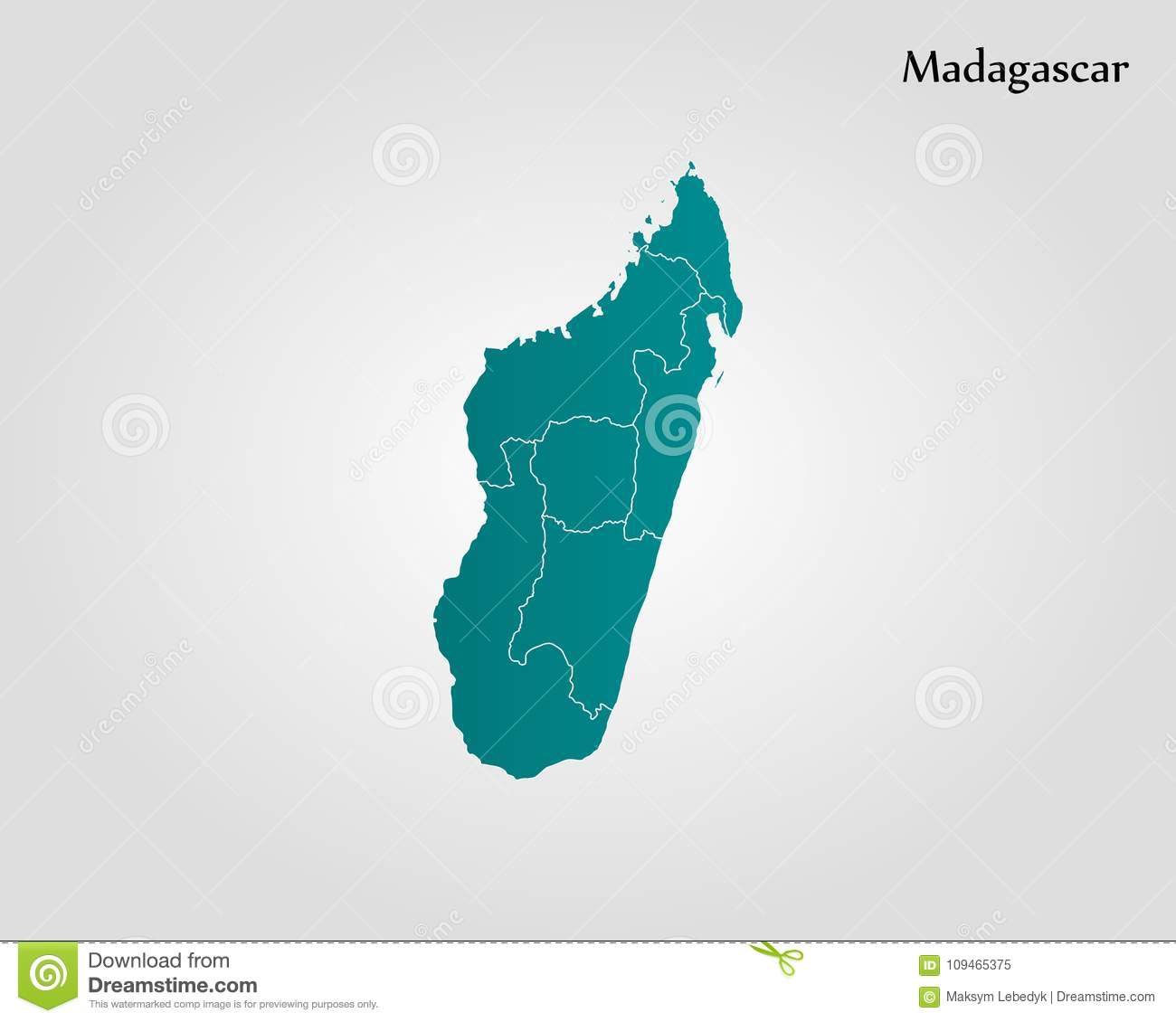 Carte Madagascar Dessin.Carte Du Madagascar Illustration Stock Illustration Du