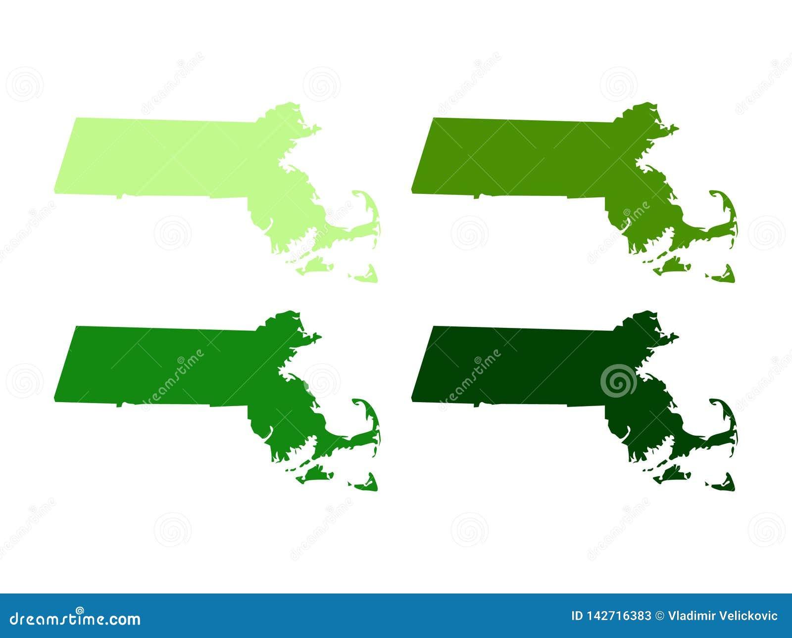 Carte du Massachusetts - Commonwealth du Massachusetts