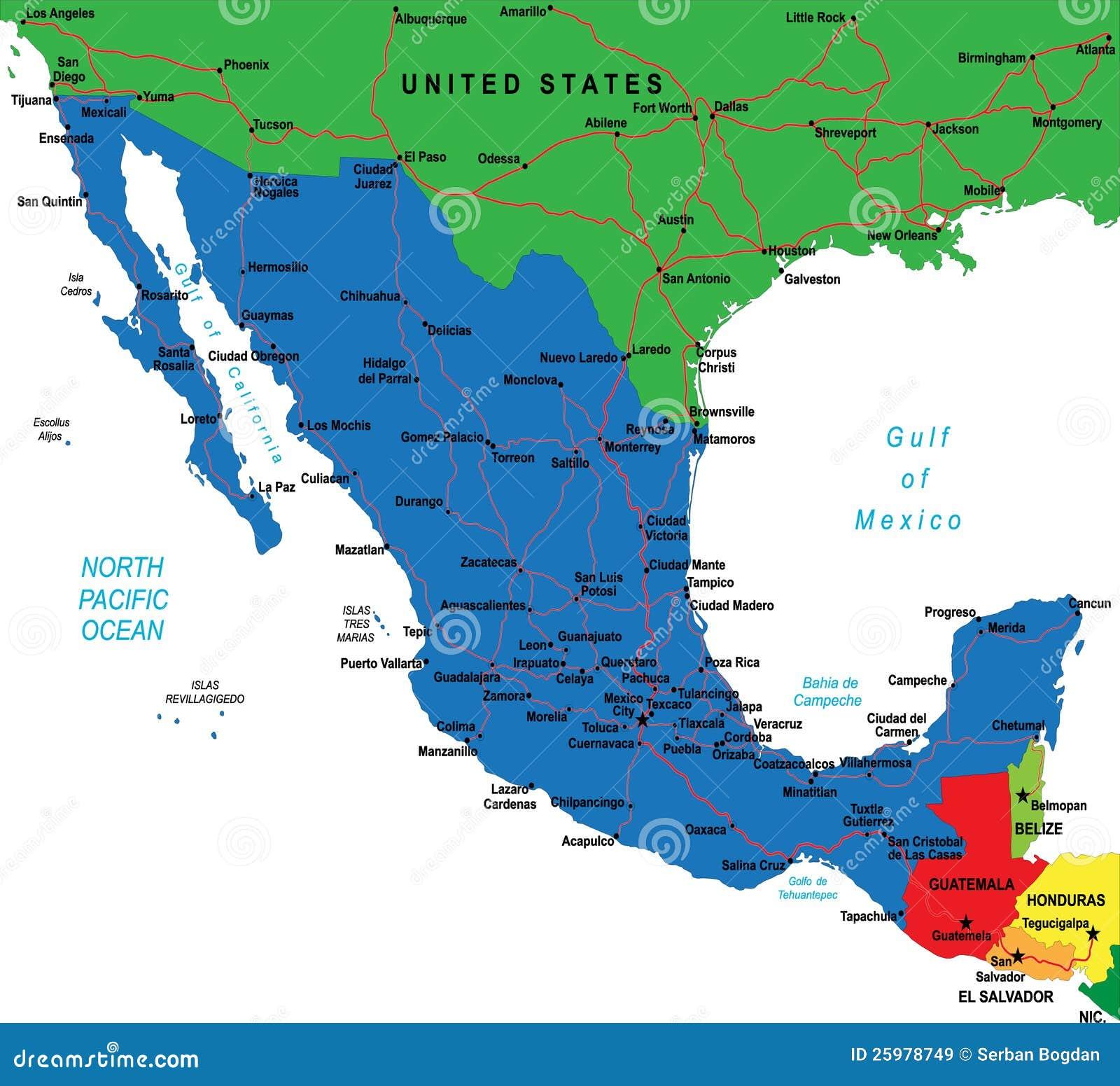 Carte Mexique Villes Principales