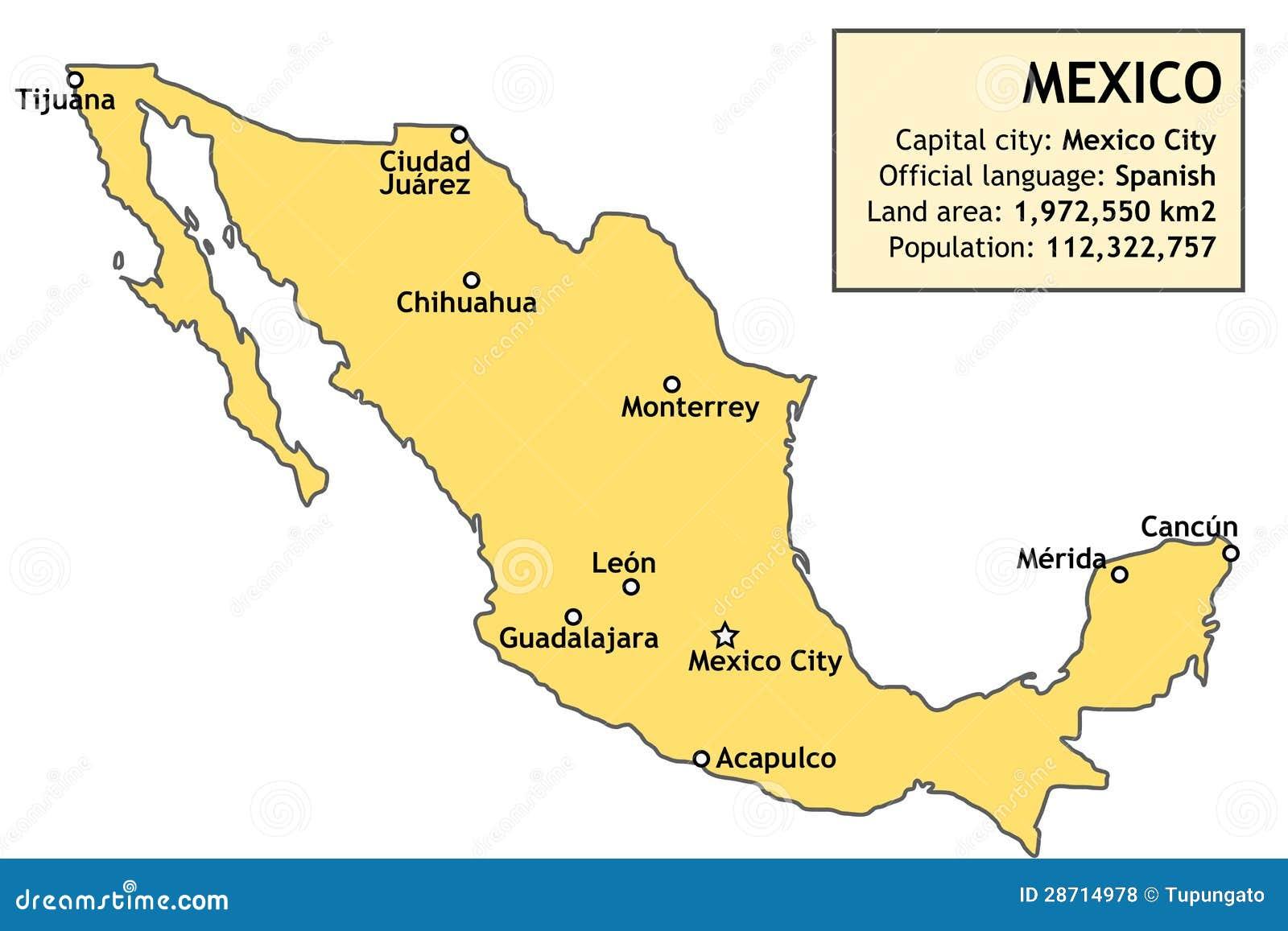 Carte Du Mexique Illustration De Vecteur Illustration Du Donn 233 Es 28714978