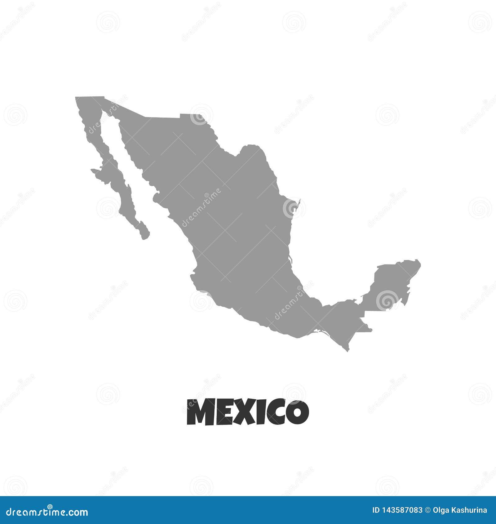Carte du Mexique Haute carte détaillée du Mexique sur le fond blanc Écran protecteur - Le fichier du vecteur