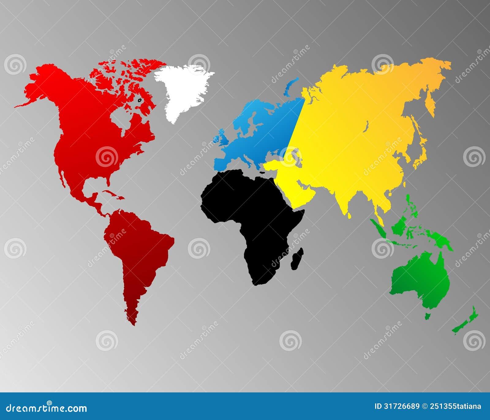 Carte du monde images libres de droits image 31726689 - Carte du monde en couleur ...