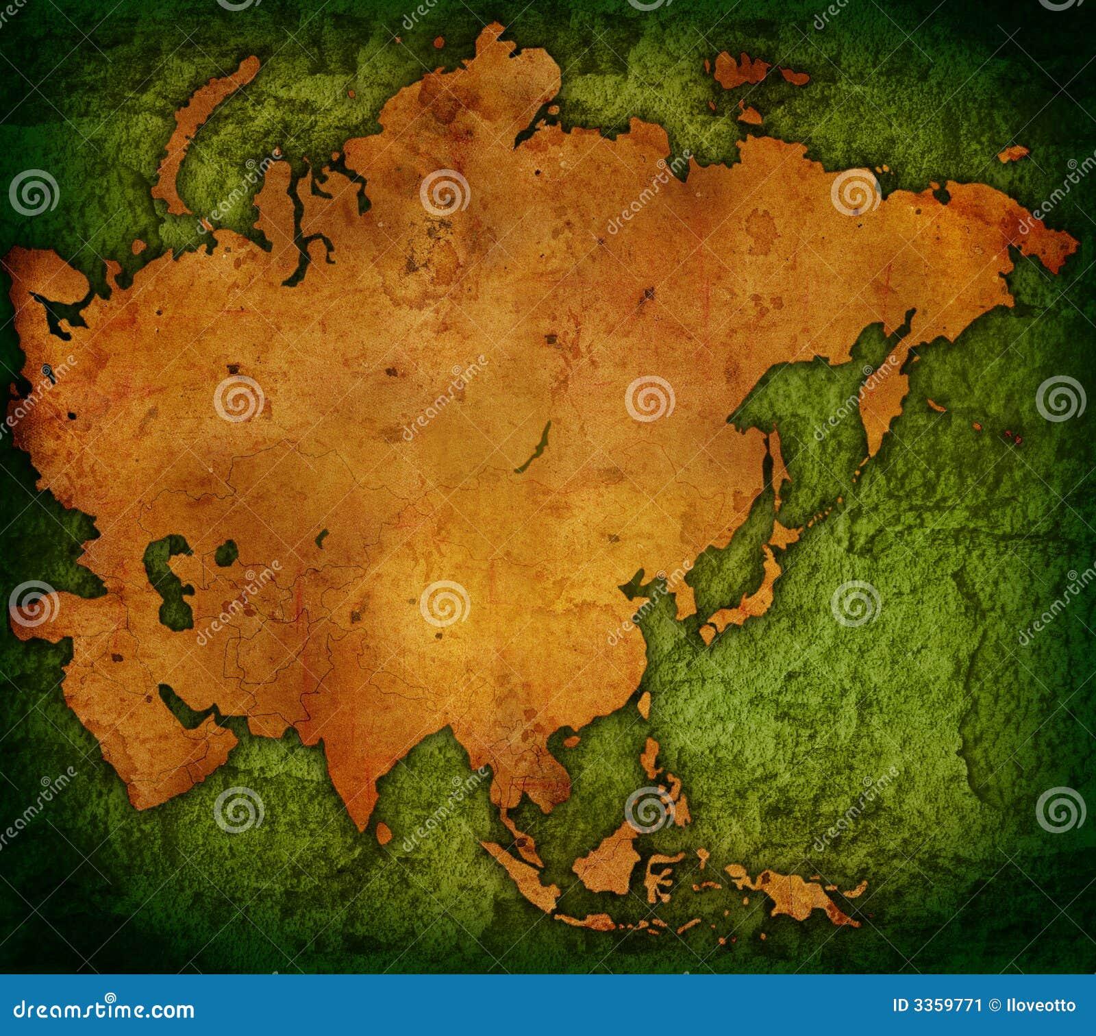 Carte du monde - carte de l Asie