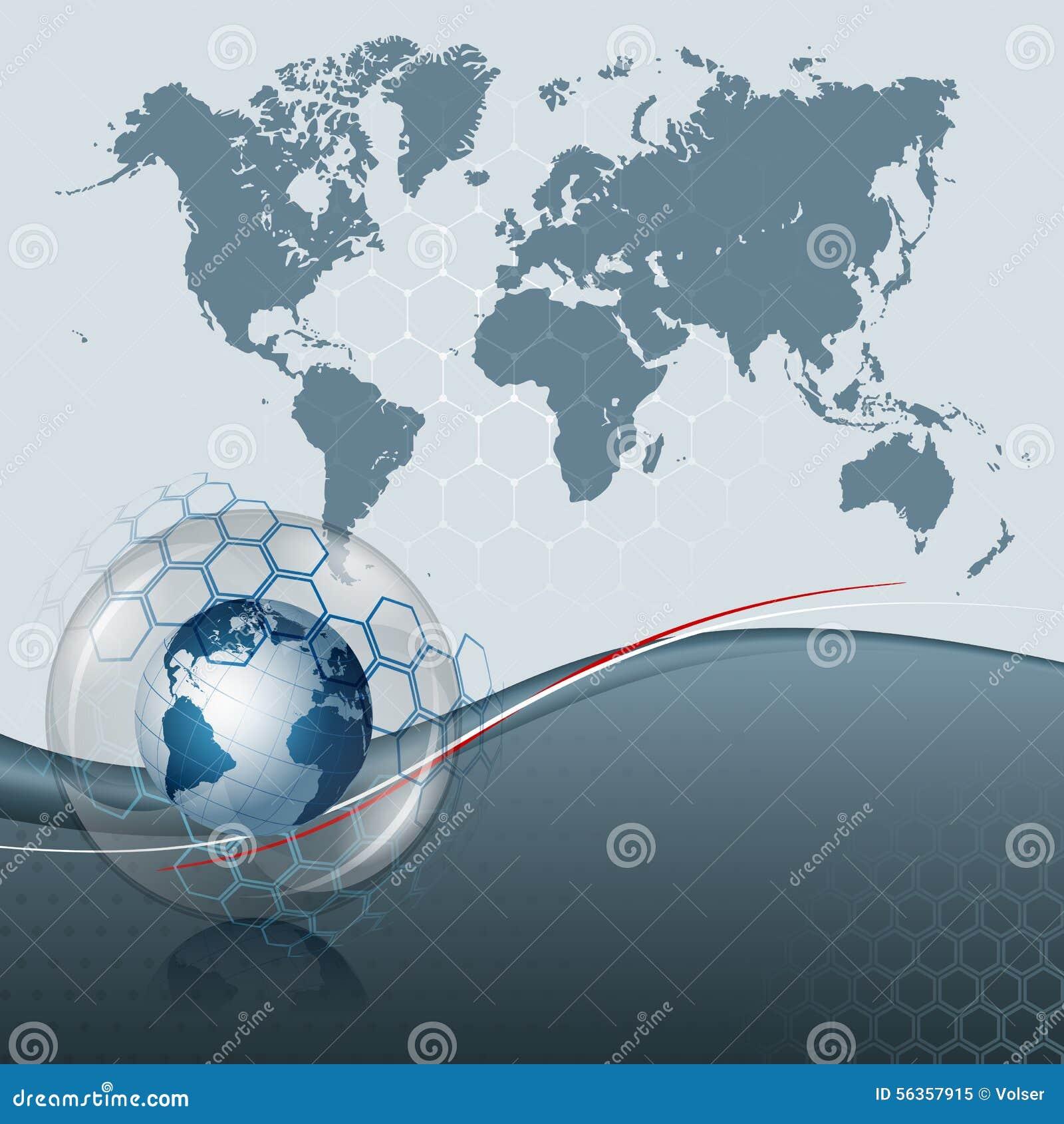 Carte du monde d 39 infographie et globe abstraits de la for L interieur de la terre