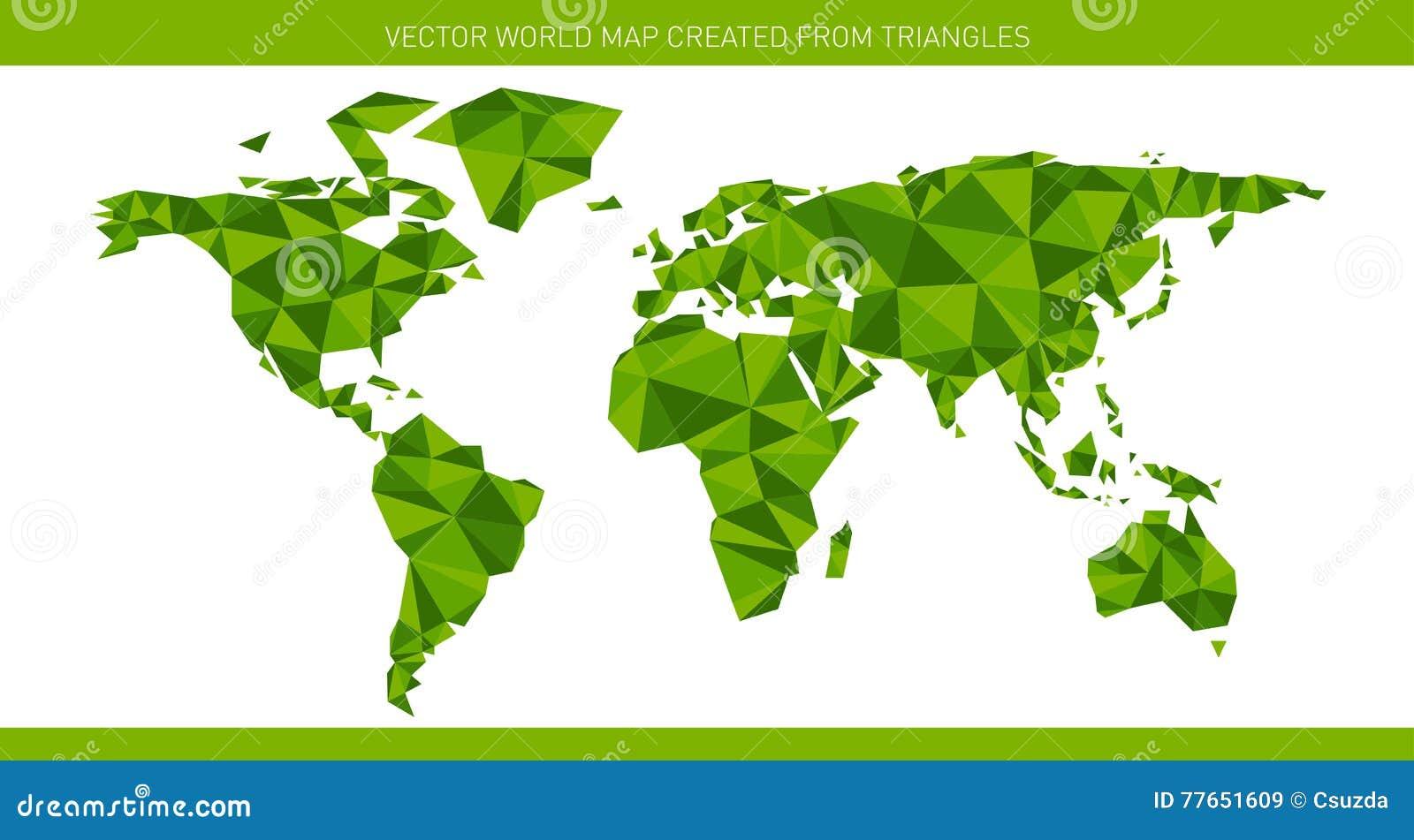 Carte Du Monde Origami.Carte Du Monde D Origami Illustration De Vecteur Illustration Du