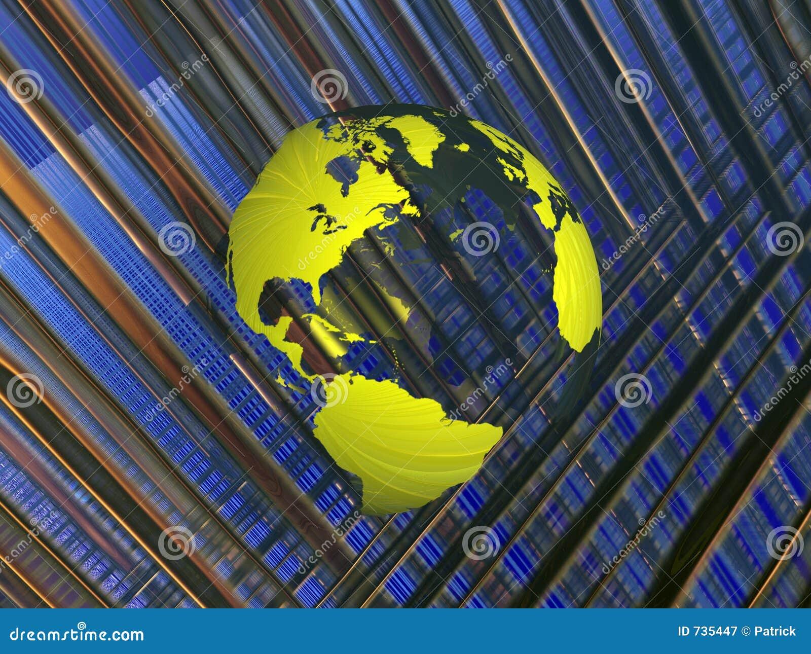 Carte du monde dans la matrice.