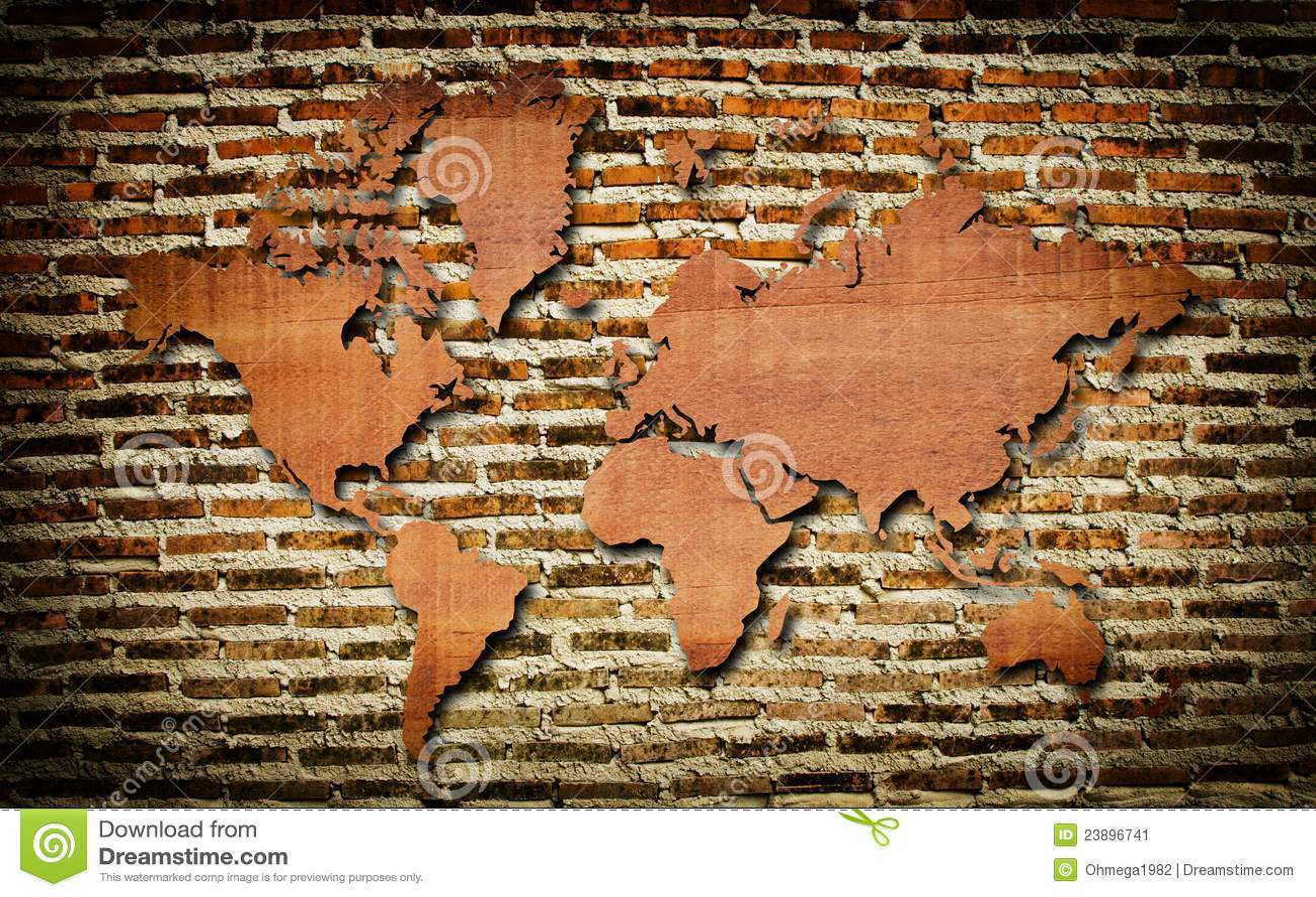 Carte Du Monde En Bois : carte du monde de cru avec la texture en bois de cru illustration stock image 23896741 ~ Teatrodelosmanantiales.com Idées de Décoration