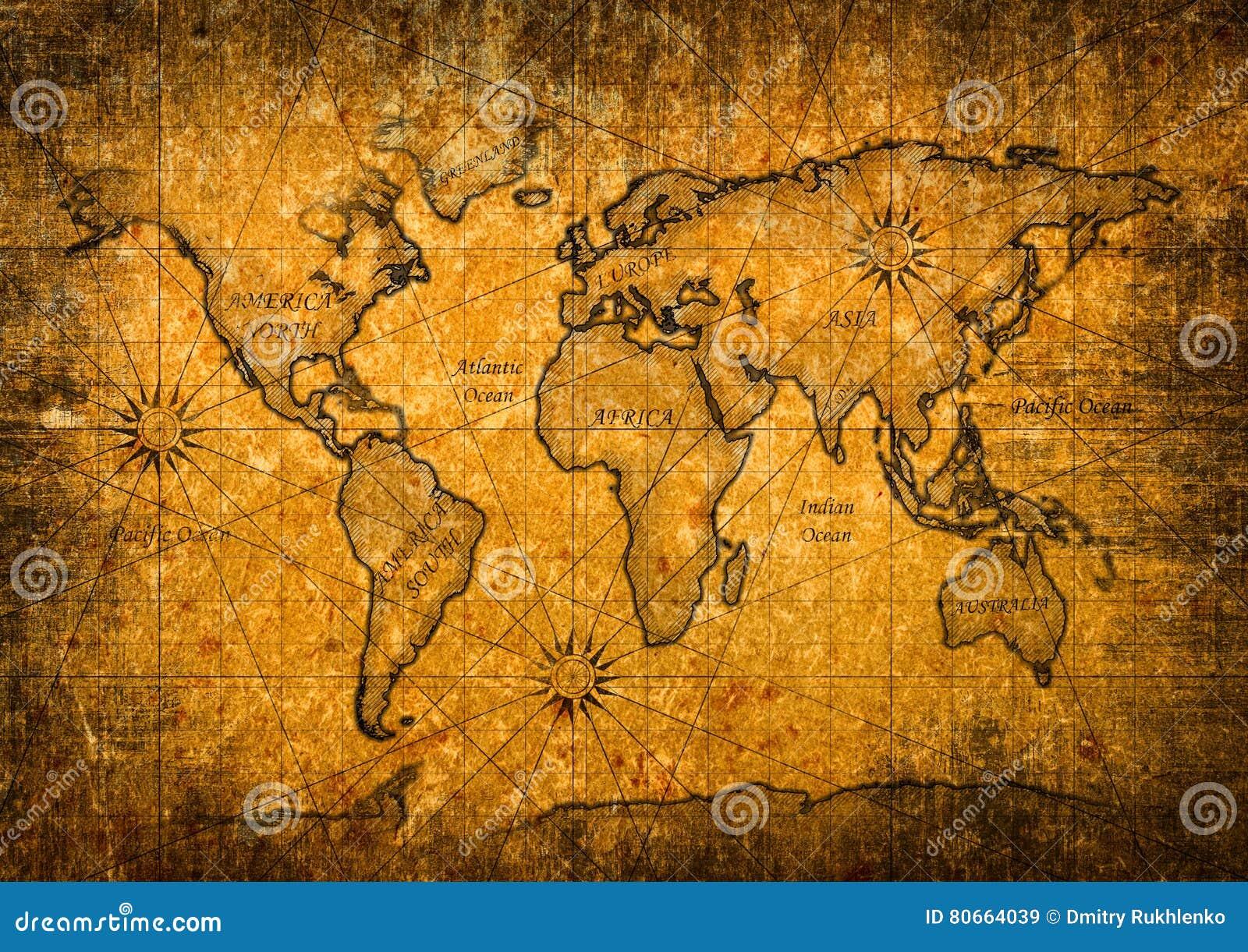 Carte du monde de vintage