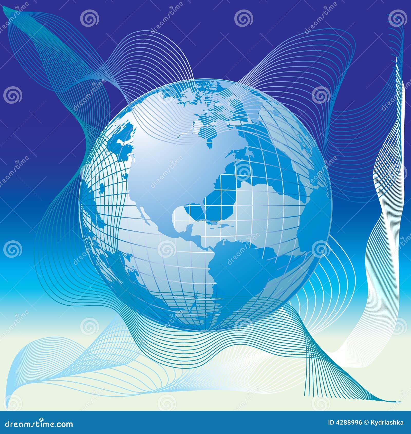 carte du monde globe 3d illustration de vecteur illustration du pays 4288996. Black Bedroom Furniture Sets. Home Design Ideas