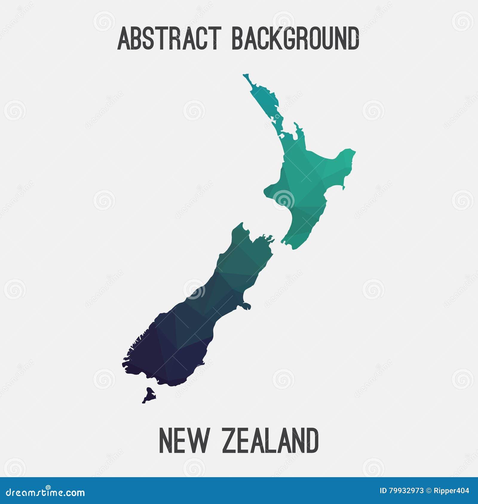 Carte Nouvelle Zelande Dessin.Carte Du Nouvelle Zelande Dans Polygonal Geometrique Style