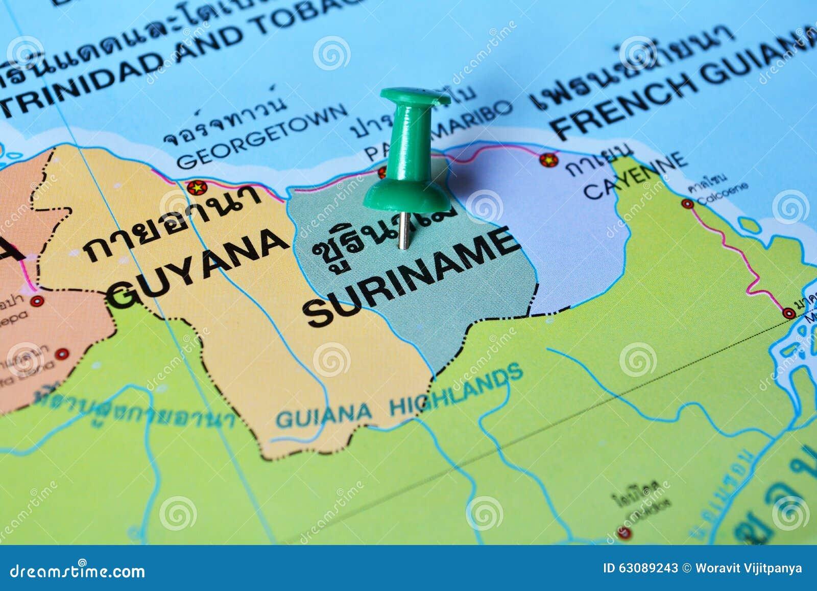 Download Carte du Surinam illustration stock. Illustration du fond - 63089243