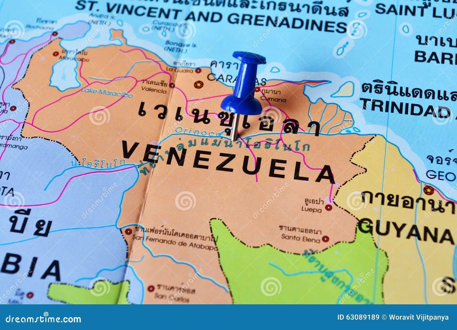 Download Carte du Venezuela image stock. Image du carte, course - 63089189