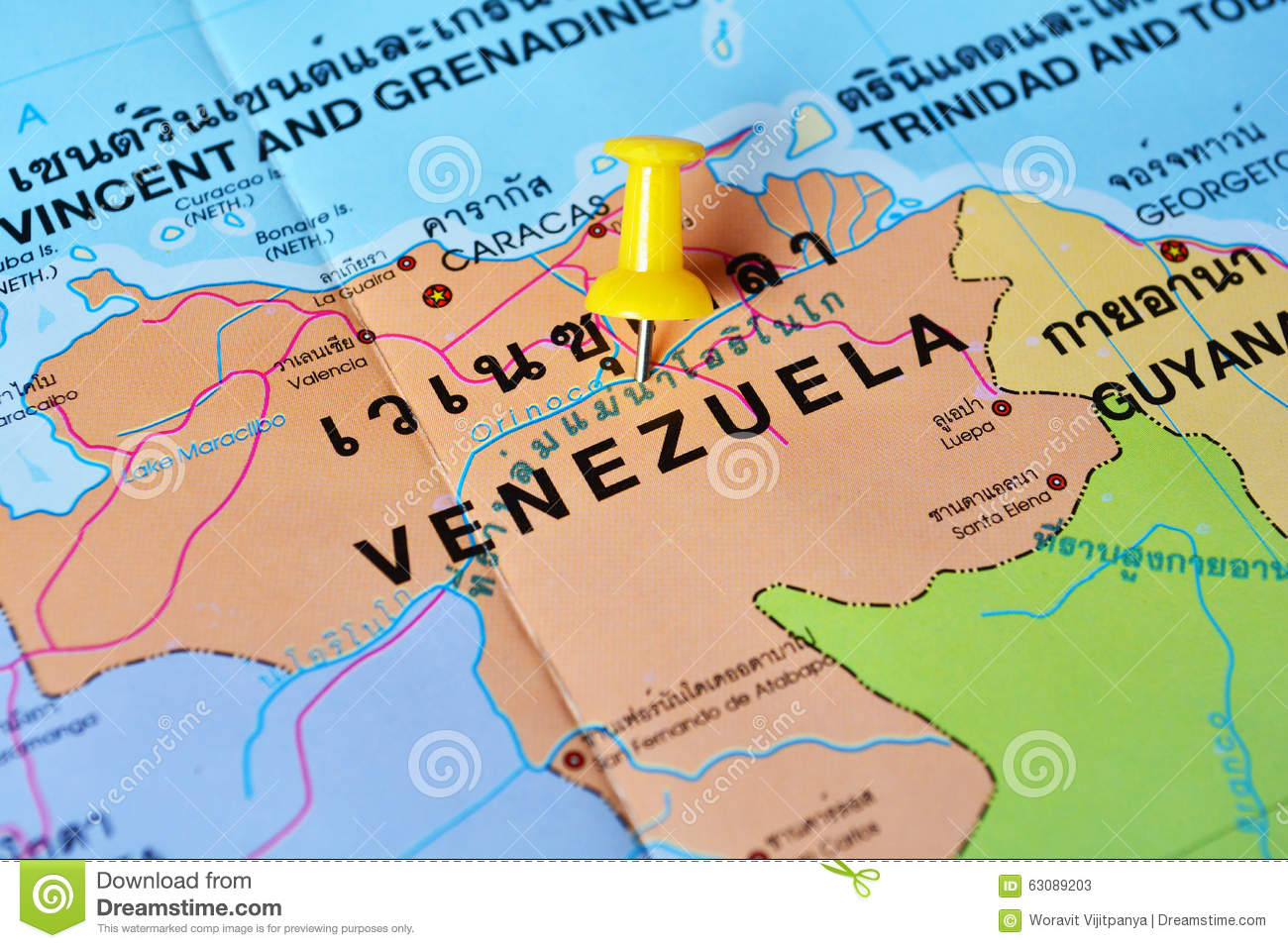 Download Carte du Venezuela image stock. Image du hospitalité - 63089203