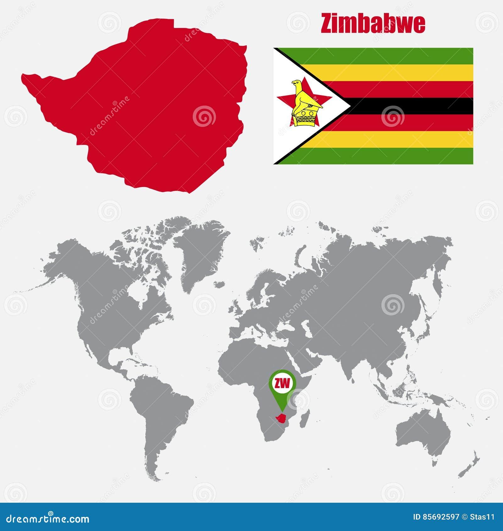 Zimbabwe carte du monde