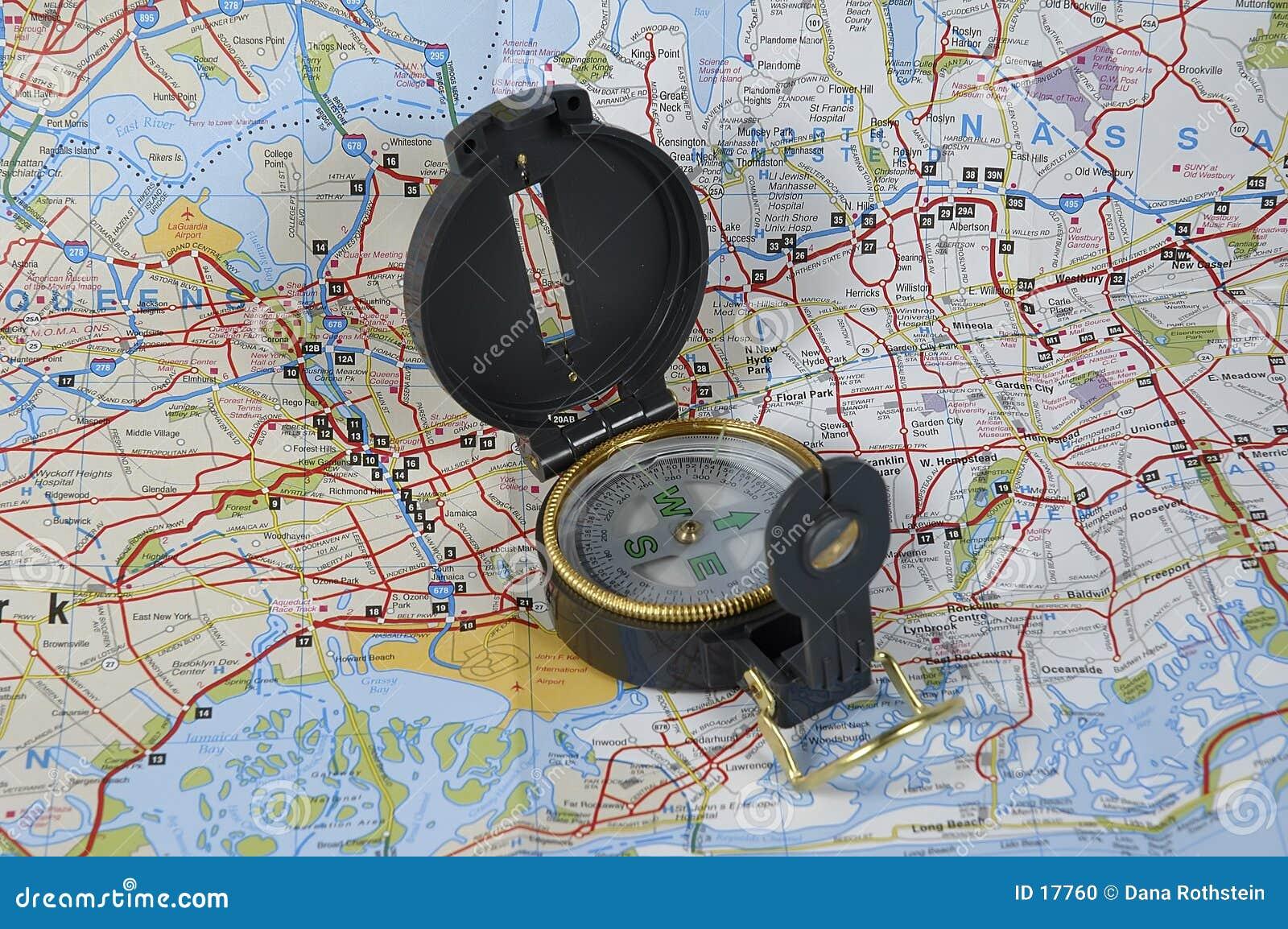 Carte et compas
