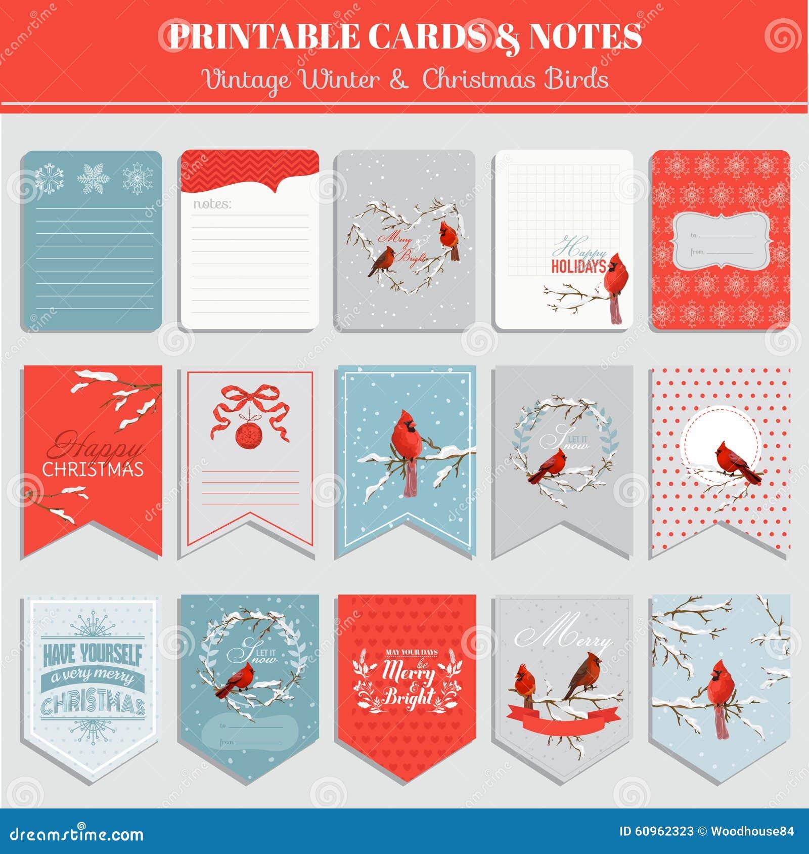Carte, etichette ed etichette stampabili - tema di Natale