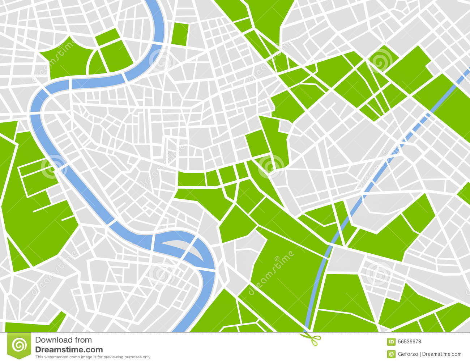 Carte européenne générique de ville