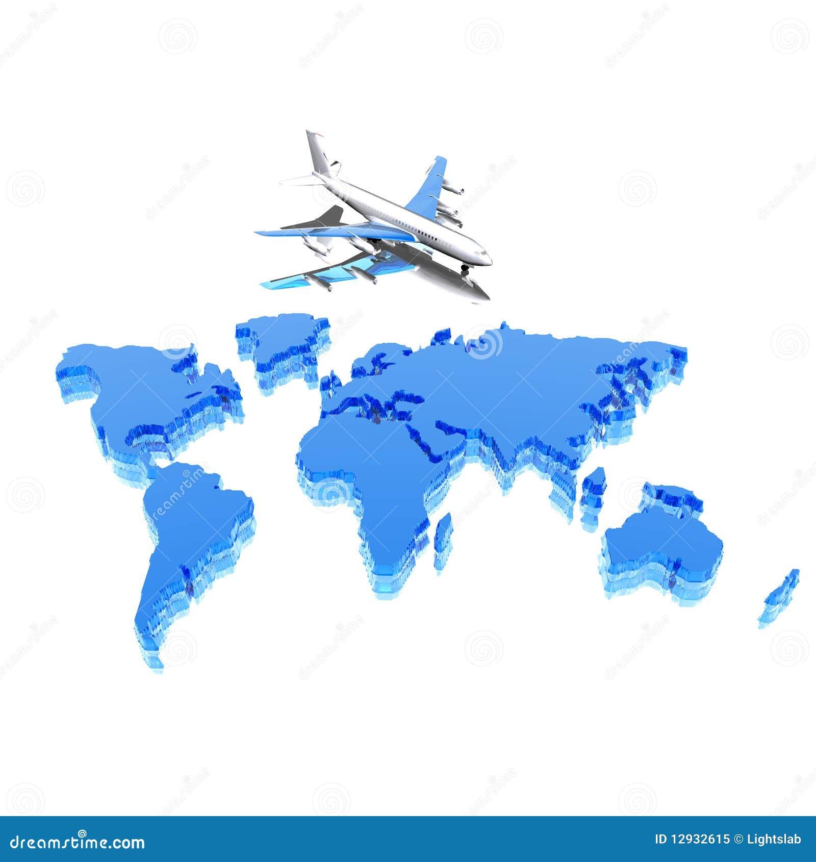 Carte Géographique Colorée Du Monde Illustration Stock