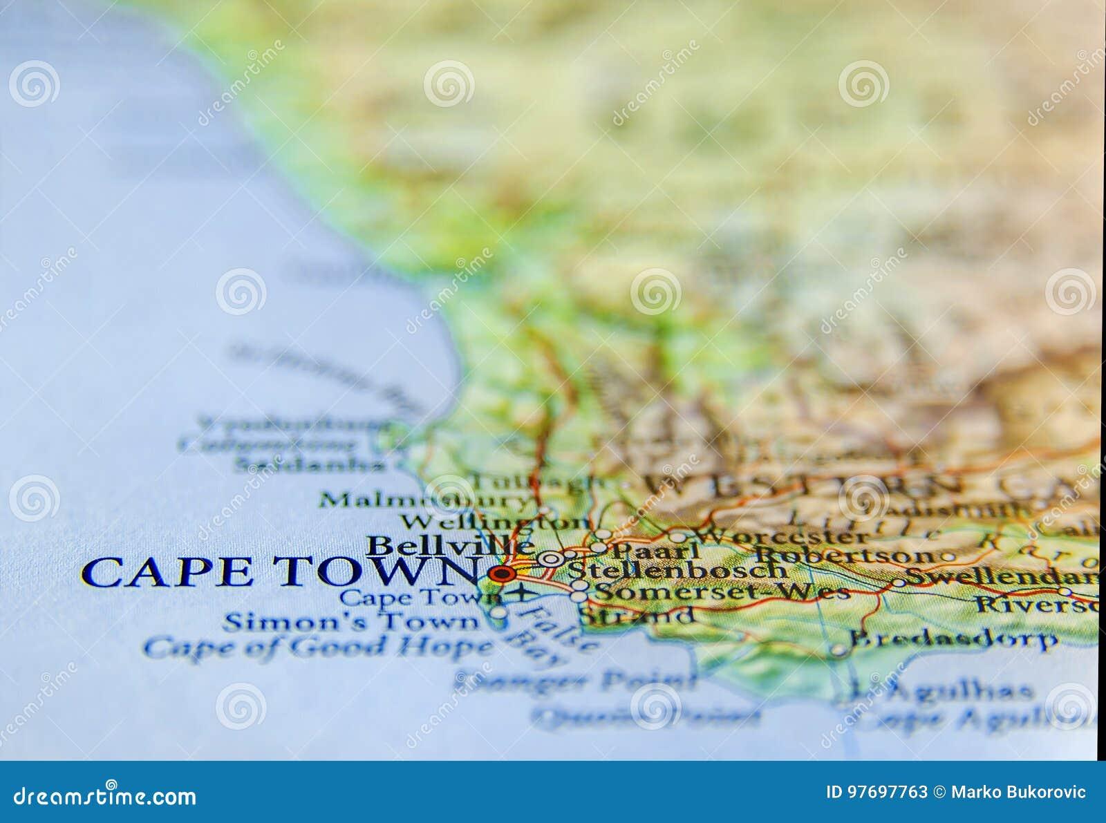 Carte De Lafrique Du Sud Avec Les Capitales.Carte Geographique De L Afrique Du Sud Avec La Capitale Cape