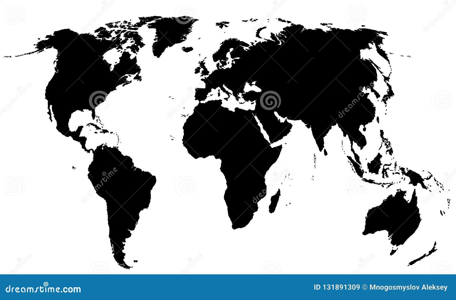 Carte globale du monde
