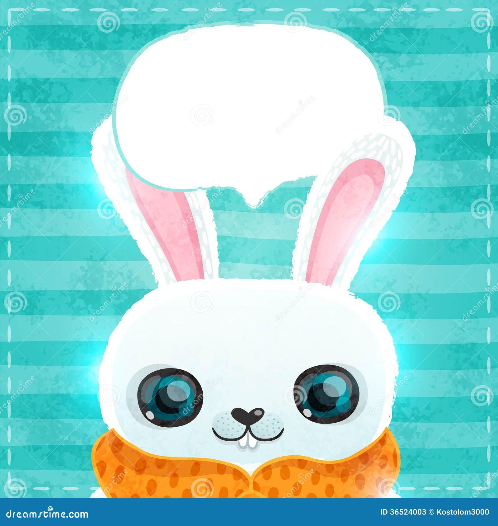 Carte heureuse de jour de valentines avec le lapin et le coeur
