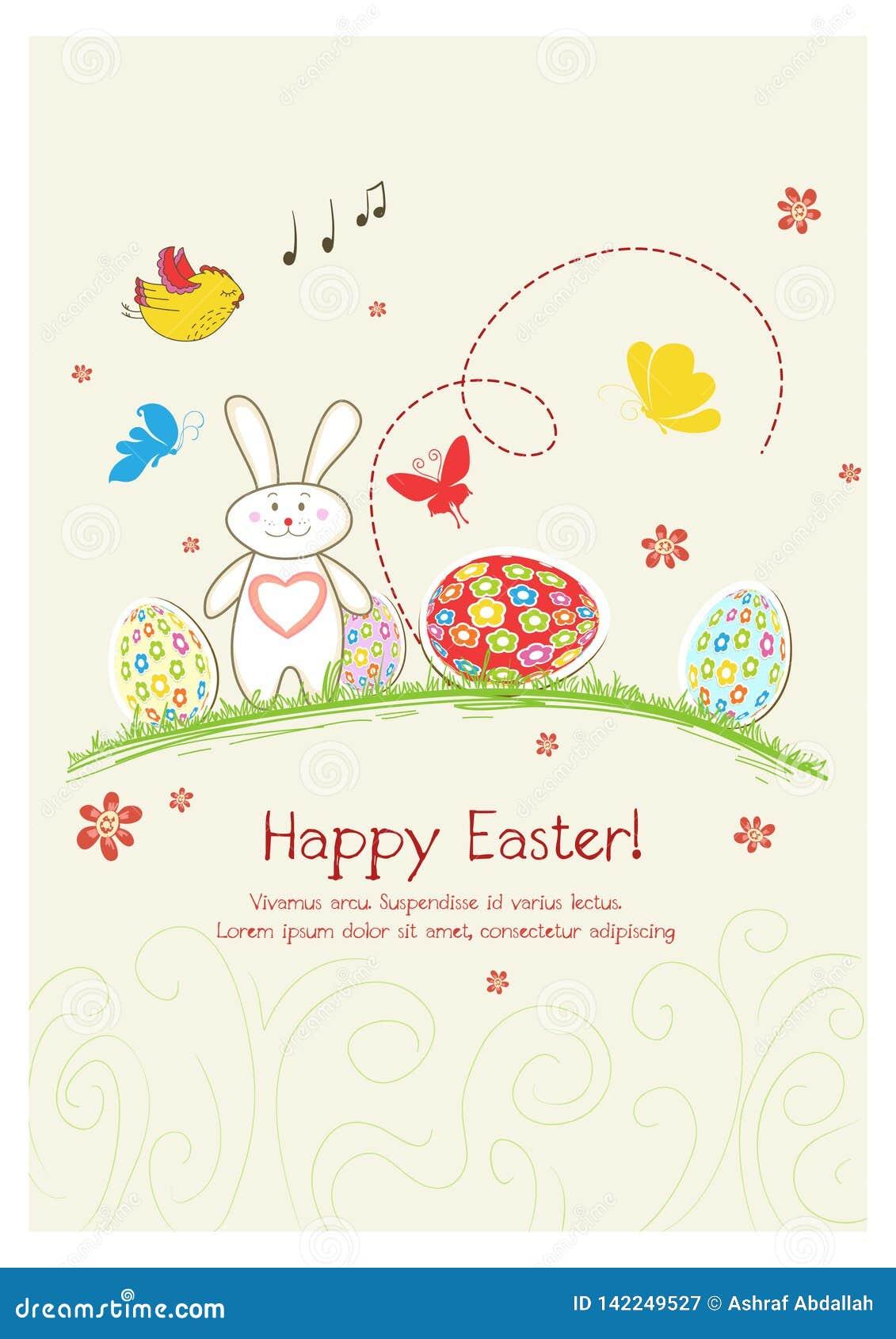 Carte heureuse de jour de Pâques de vacances