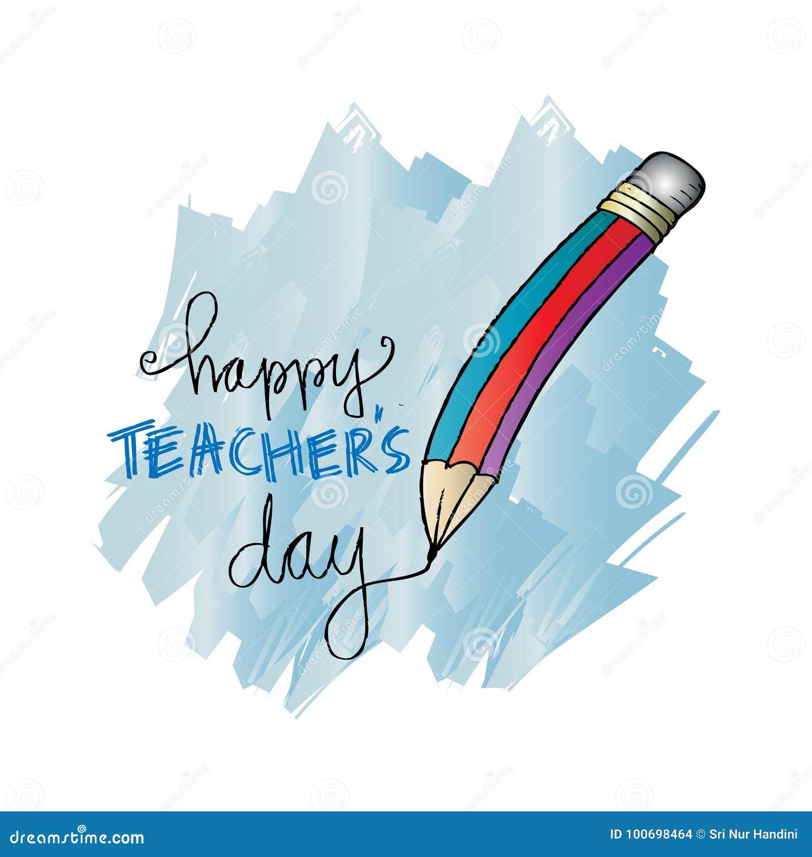 Carte heureuse de jour de professeurs