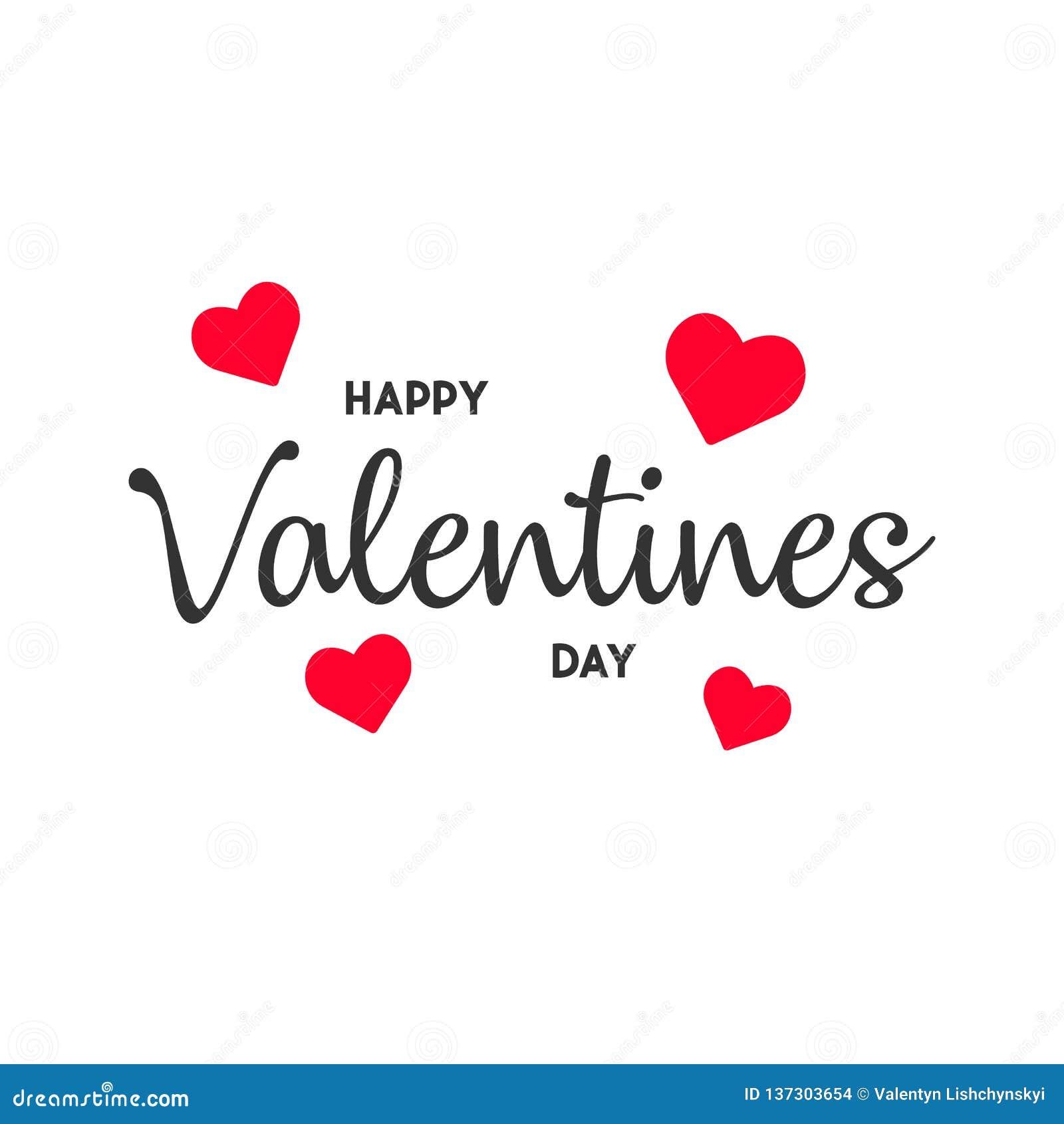 Carte heureuse de jour de Valentine s illustration moderne EPS10 de vecteur de fond