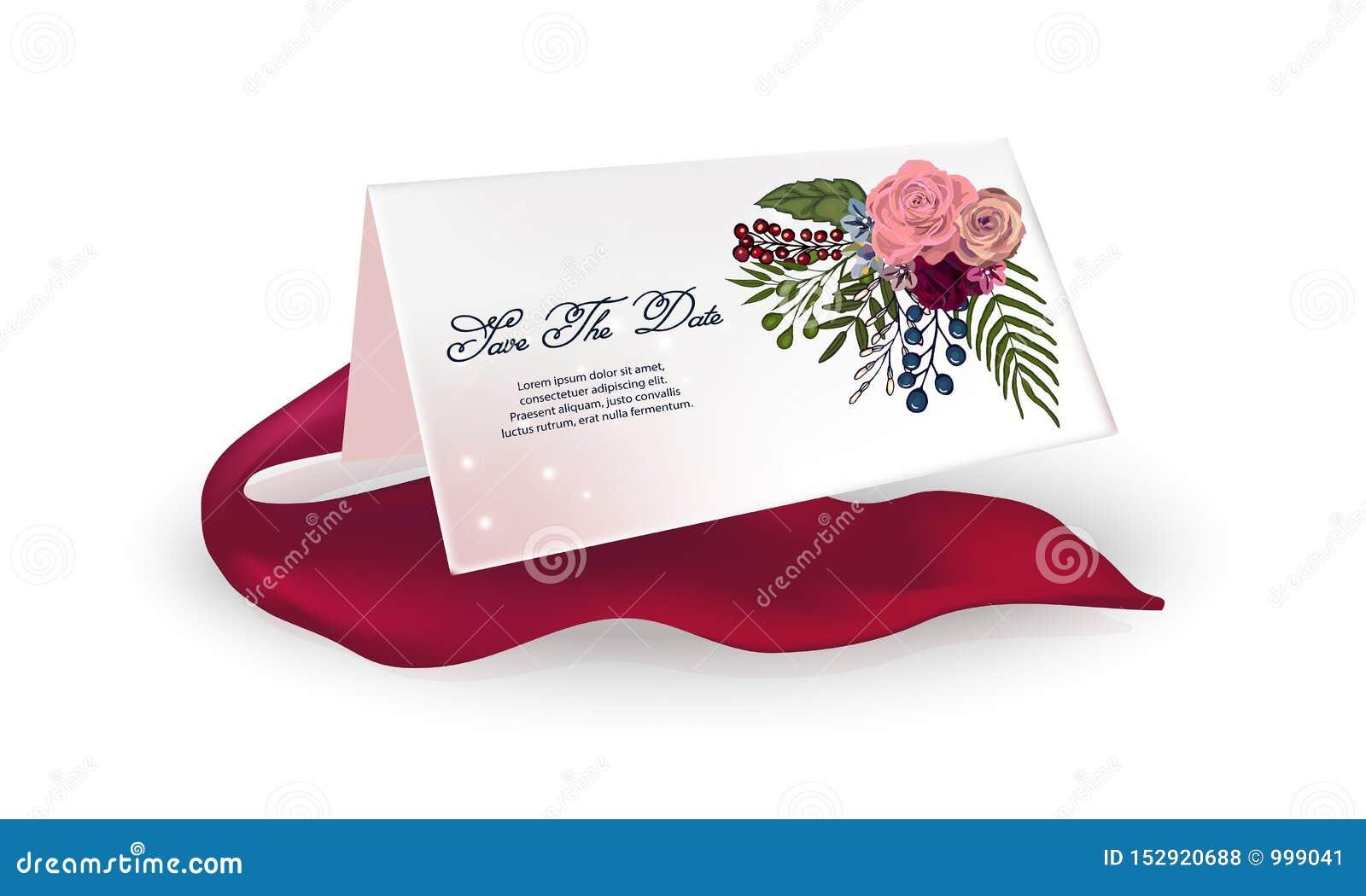 Carte légère sur un fond blanc, ruban rouge Vue avec les roses, fleurs pour l anniversaire, mariage, le jour de valentine