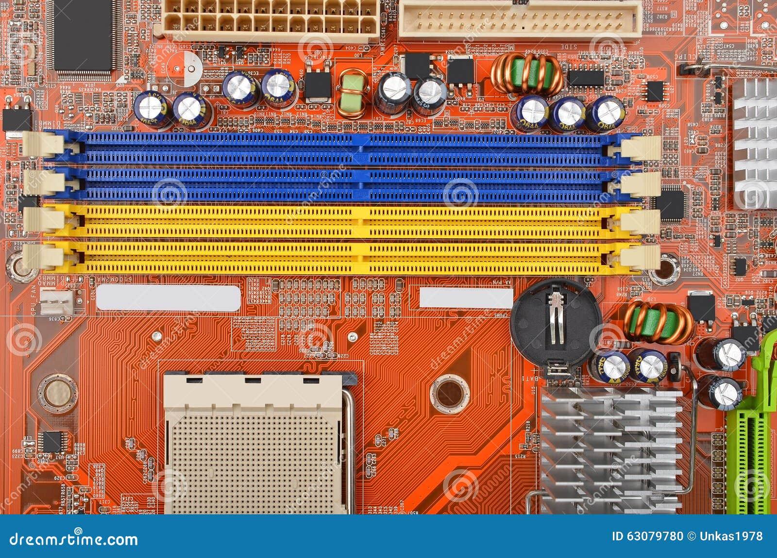 Download Carte mère d'ordinateur photo stock. Image du puce, ordinateur - 63079780