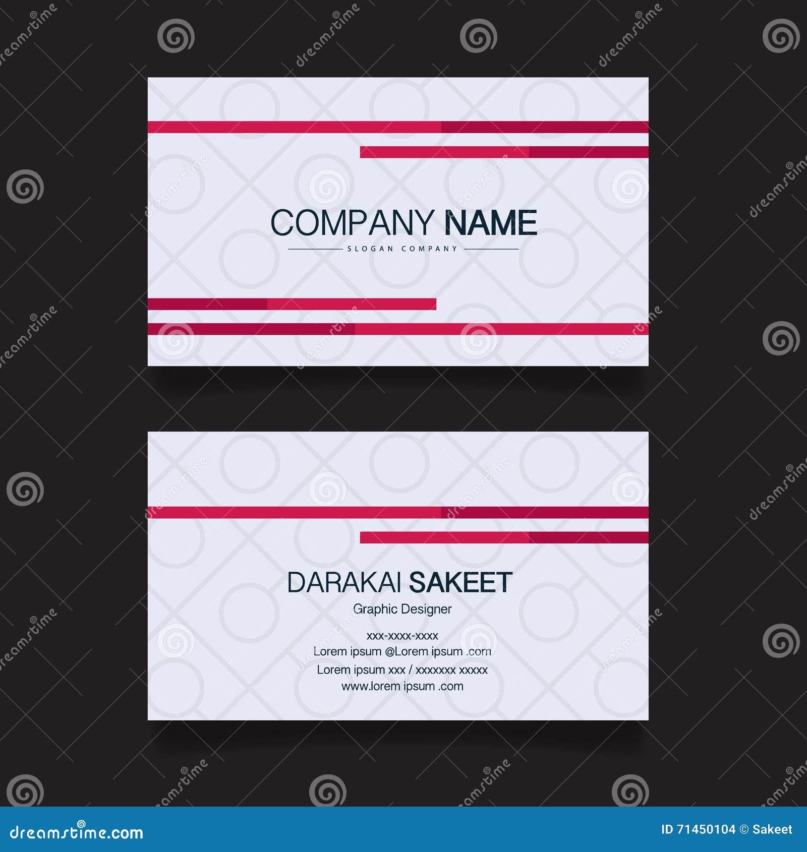 Carte Nominative Calibre Simple Moderne De Visite Professionnelle