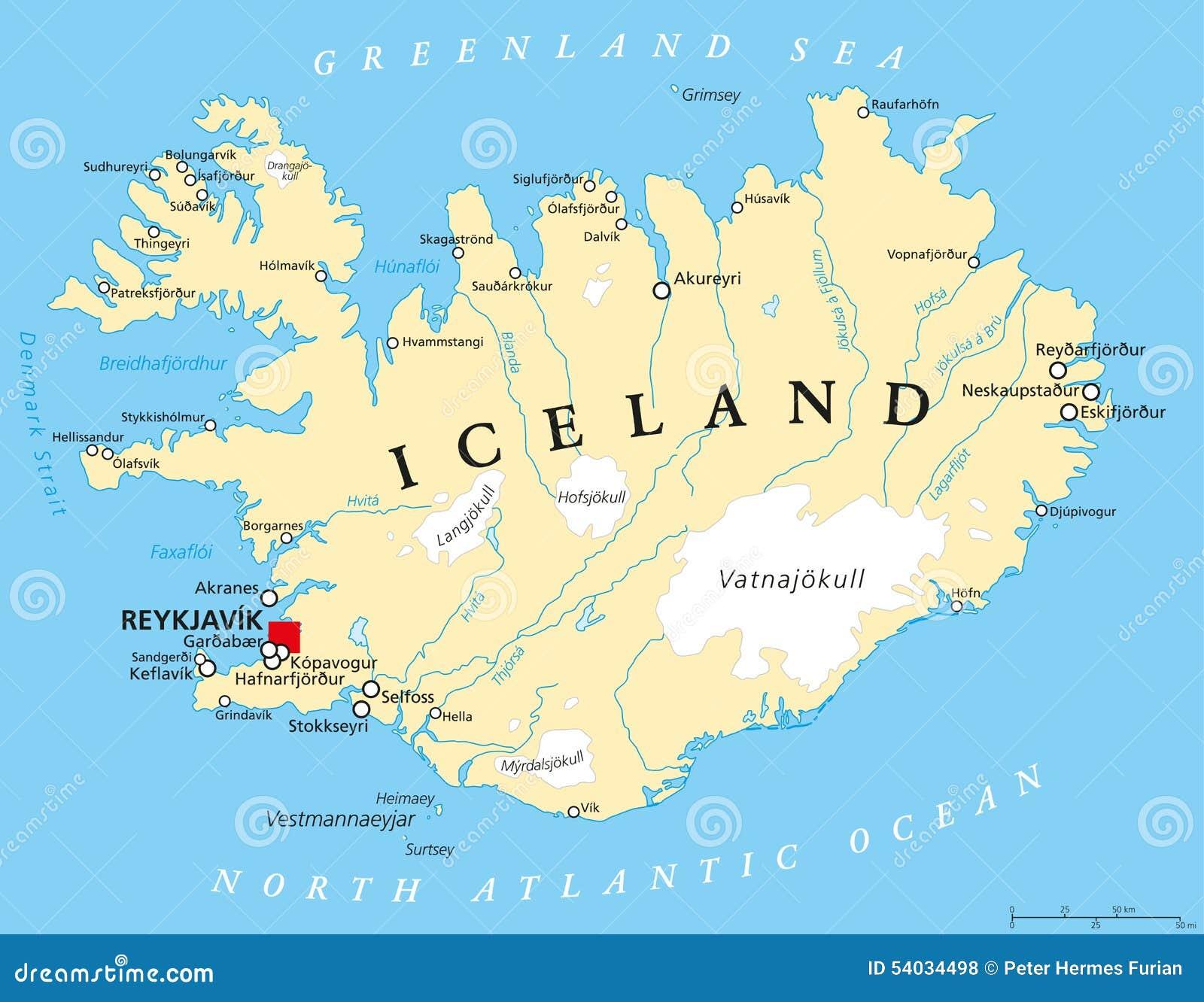 Islande Carte Touristique