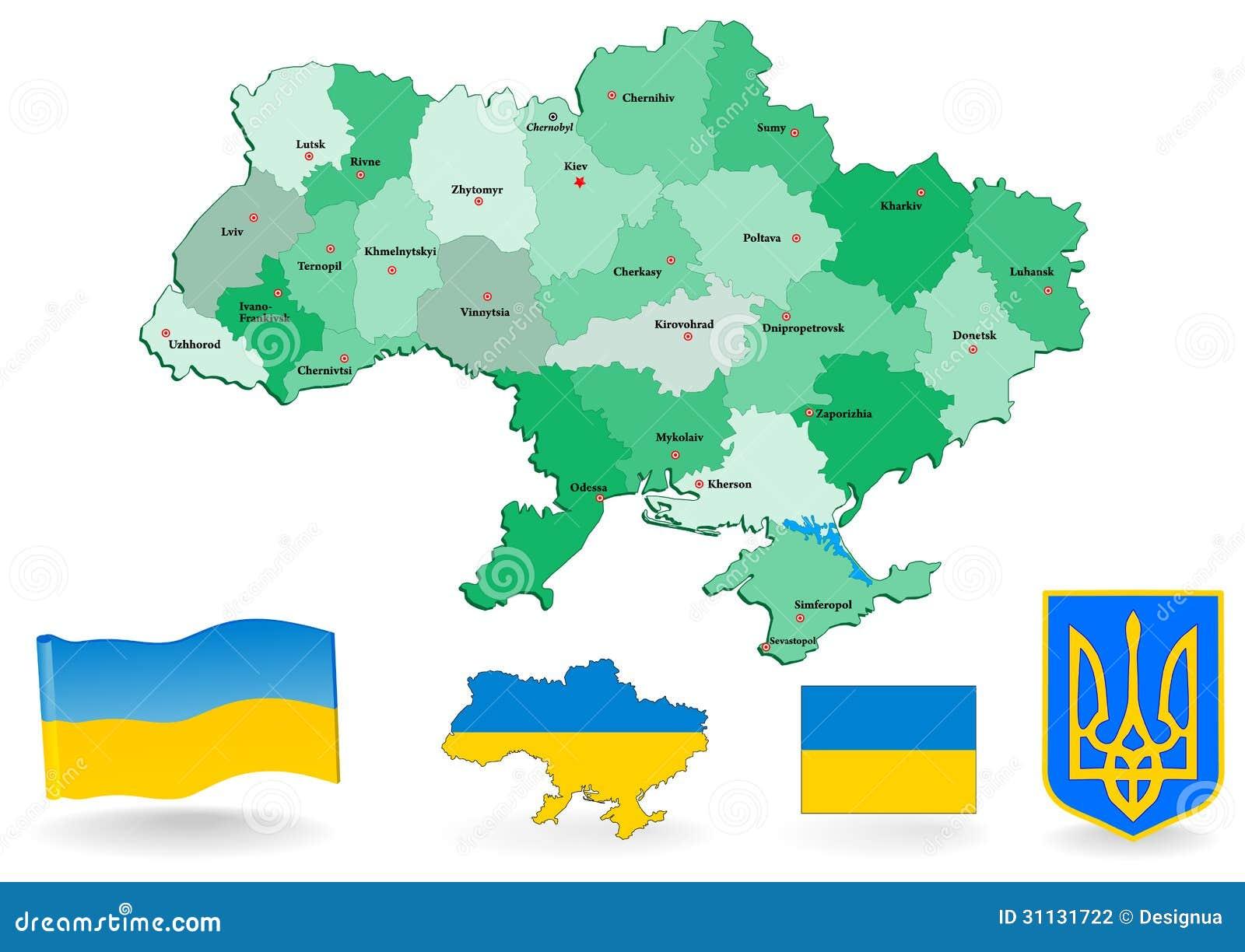 Carte Politique De L'Ukraine Illustration de Vecteur - Illustration du odessa, cordon: 31131722