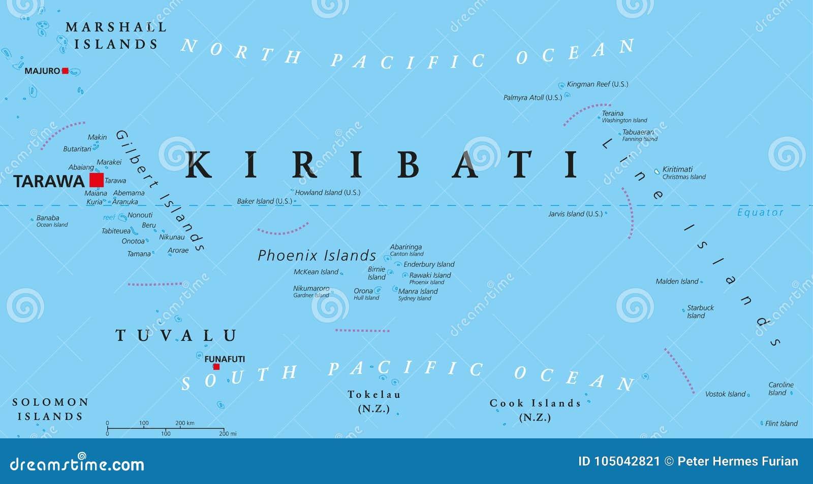 carte des iles kiribati