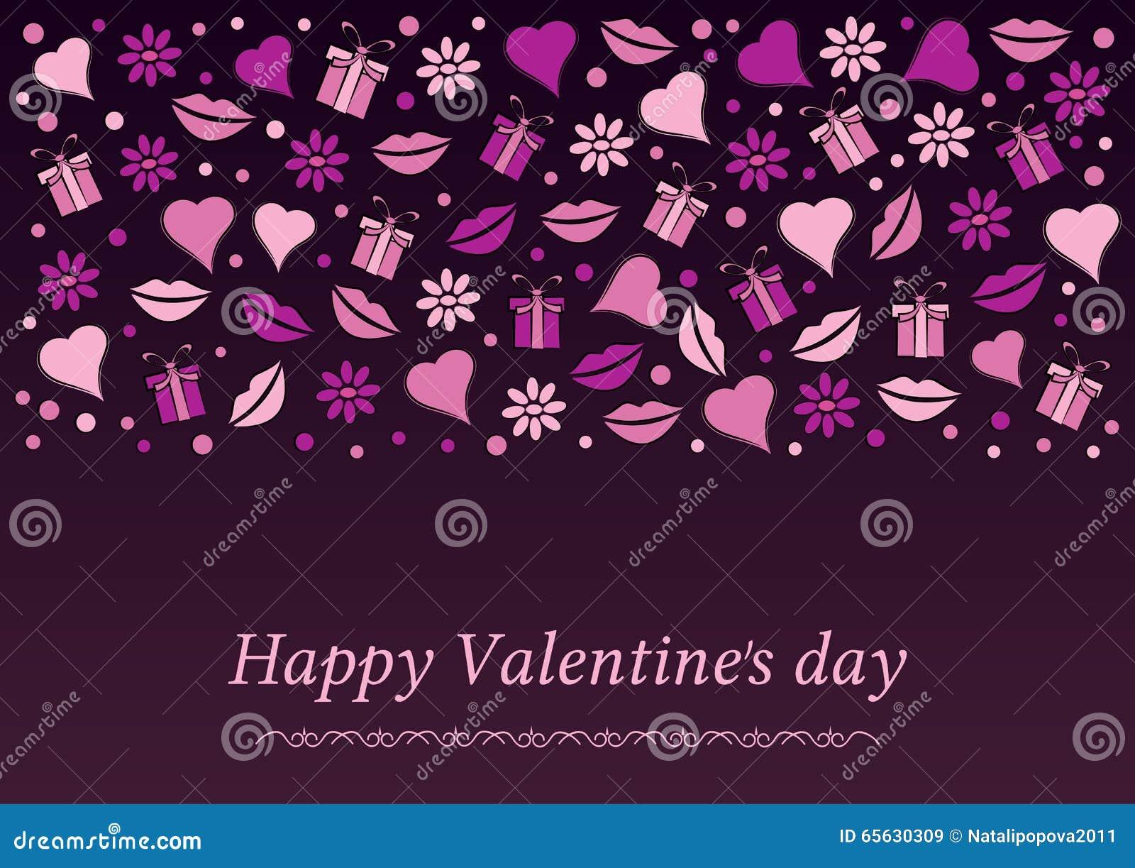 Carte postale à la Saint-Valentin
