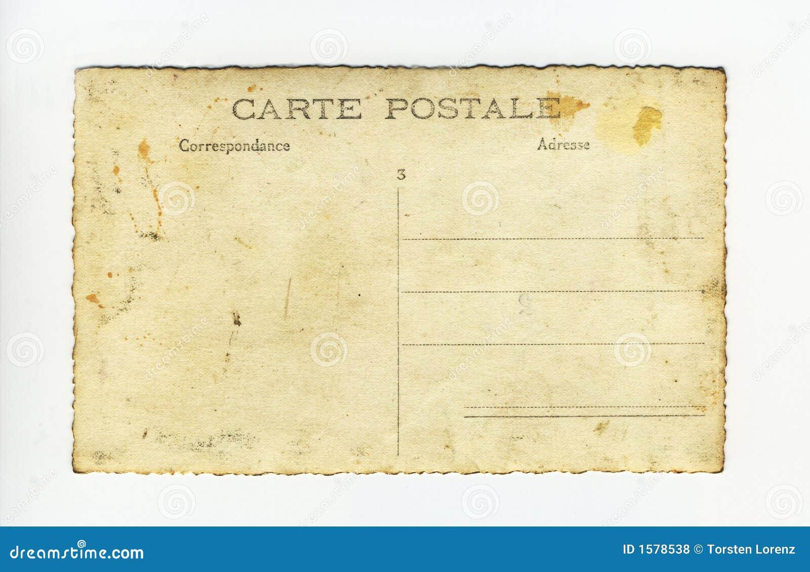 carte postale stock photo image of grunge back blank 1578538. Black Bedroom Furniture Sets. Home Design Ideas