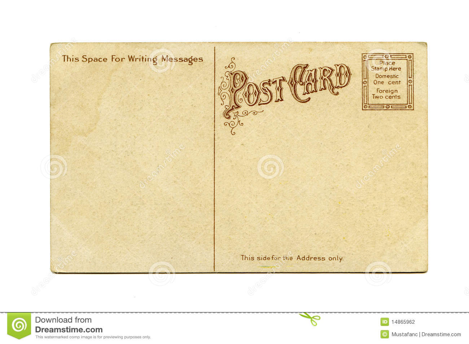 carte postale antique photo stock image du vieux postcard 14865962. Black Bedroom Furniture Sets. Home Design Ideas