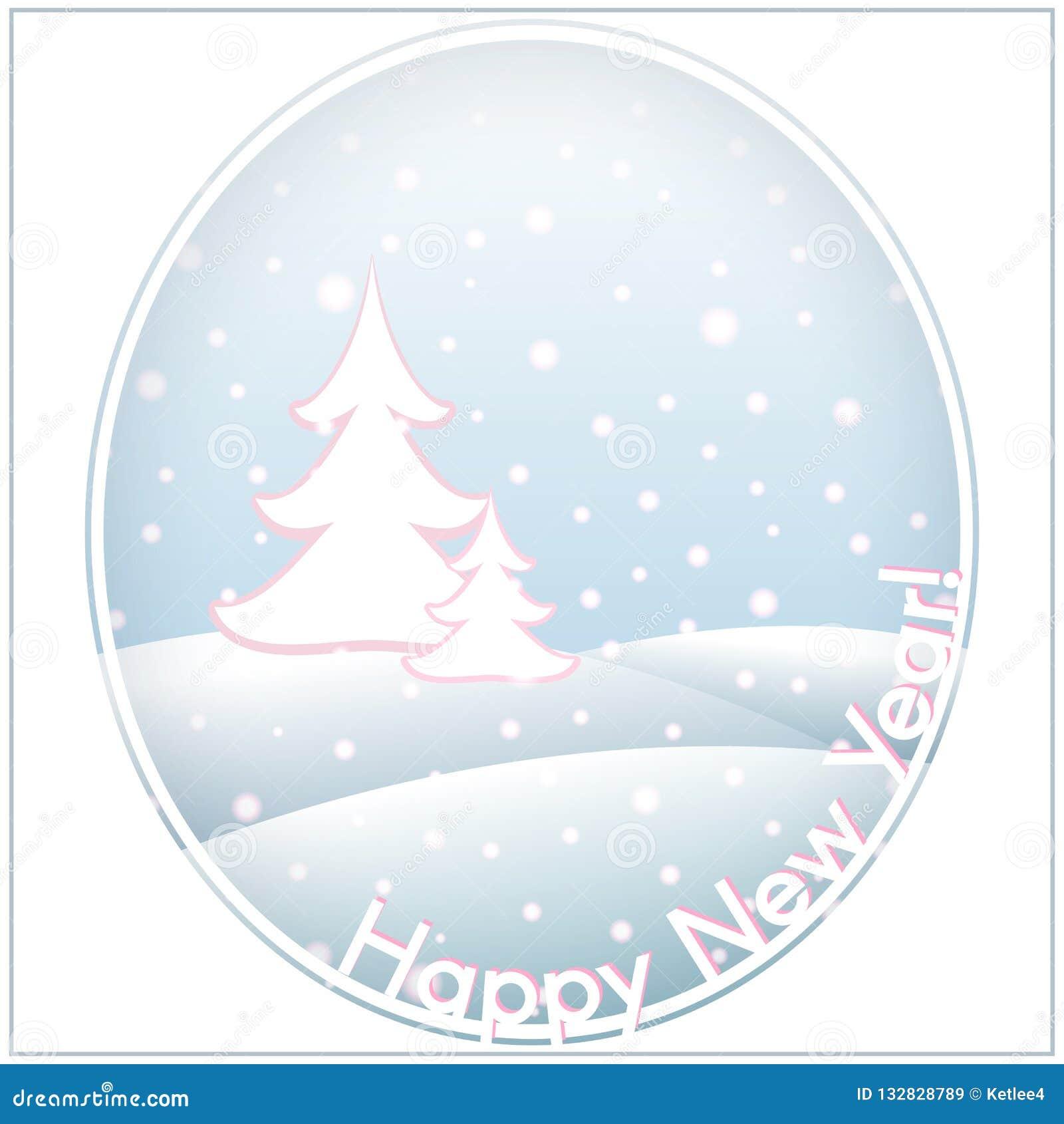Carte postale avec le backgr de calibre de bonne année et de Noël des textes