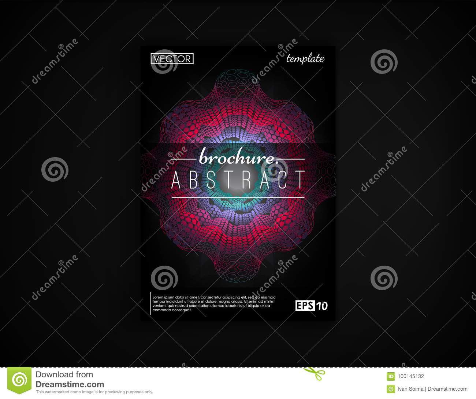 Carte Postale De Conception Couverture Brochure Disolement 2d Fond Futuriste Affiche Insecte Visite Professionnelle Et