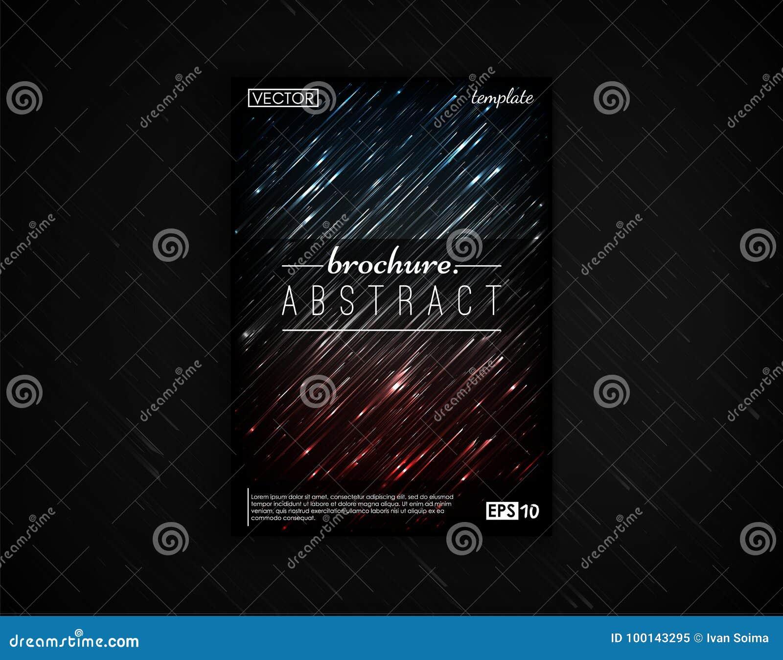 Carte Postale De Conception Couverture Brochure Disolement Le 2d Mouvement Fond Objecte Futuriste Affiche Insecte Visite