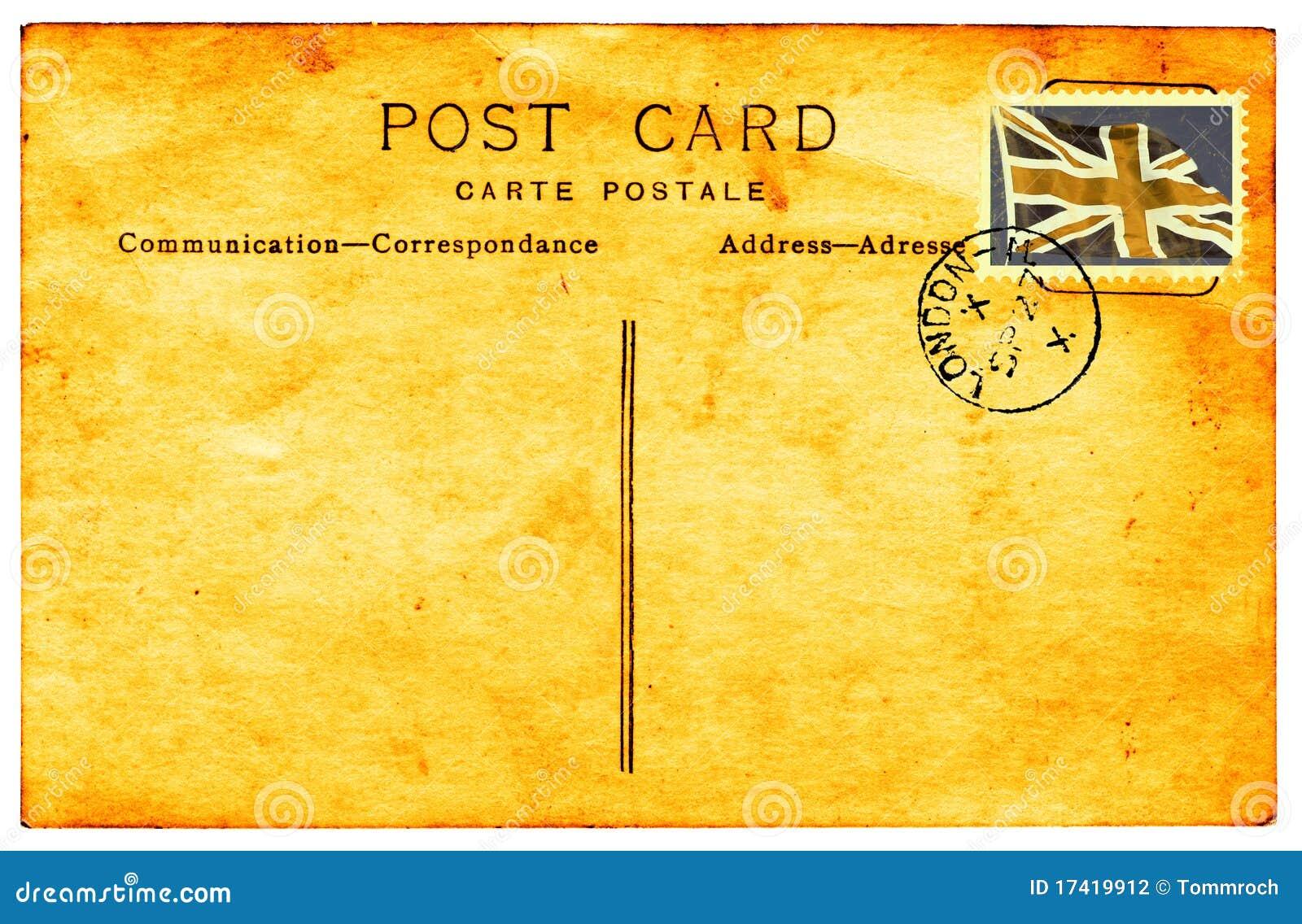 Populaire Carte Postale Des Anglais De Cru Image stock - Image: 1297421 KL44