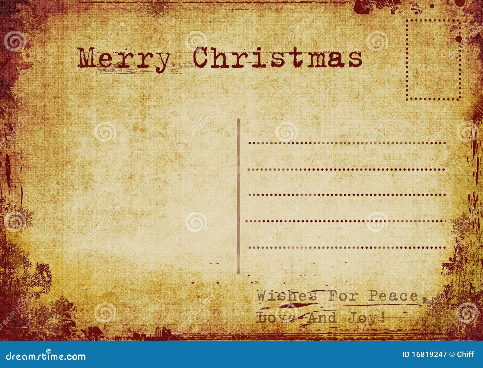 Carte postale de Noël de cru