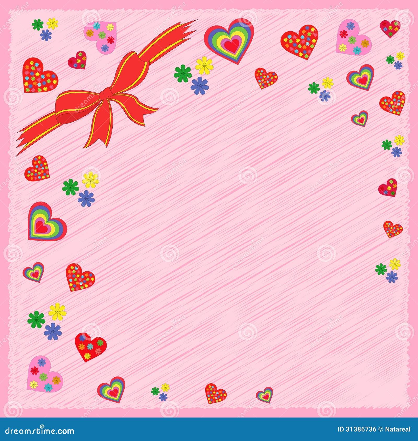 Carte postale de salutation sur le rose image libre de for Porte carte postale sur pied