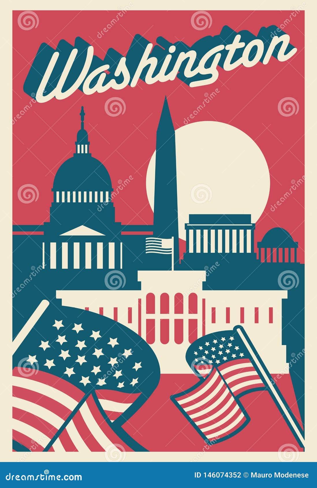 Carte postale de Washington DC