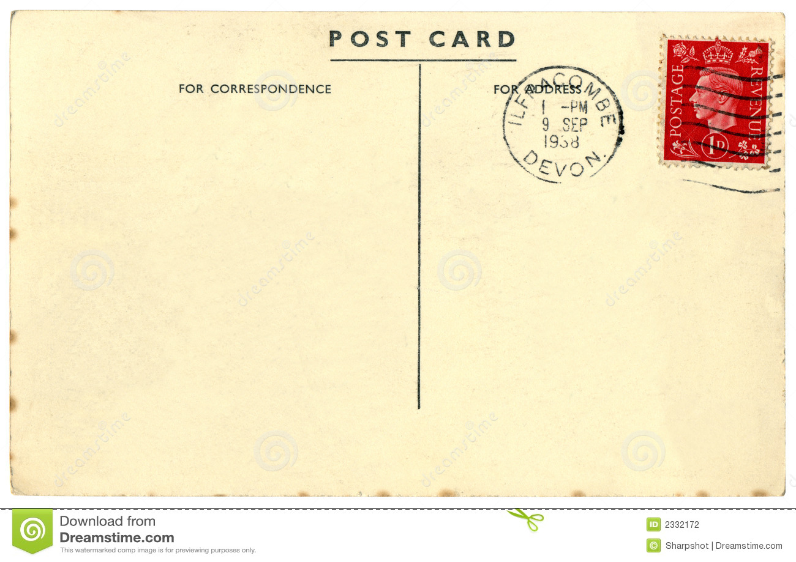 Populaire Carte Postale Des Anglais De Cru Photo stock - Image: 2332172 KL44