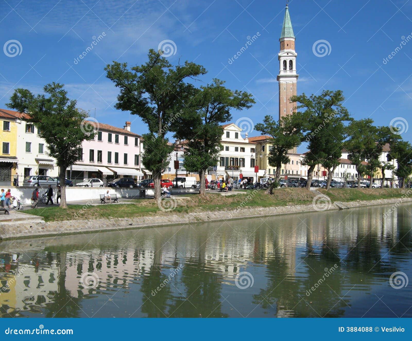 Carte Postale Italienne : Dolo (Venise) Photos libres de droits - Image: 3884088