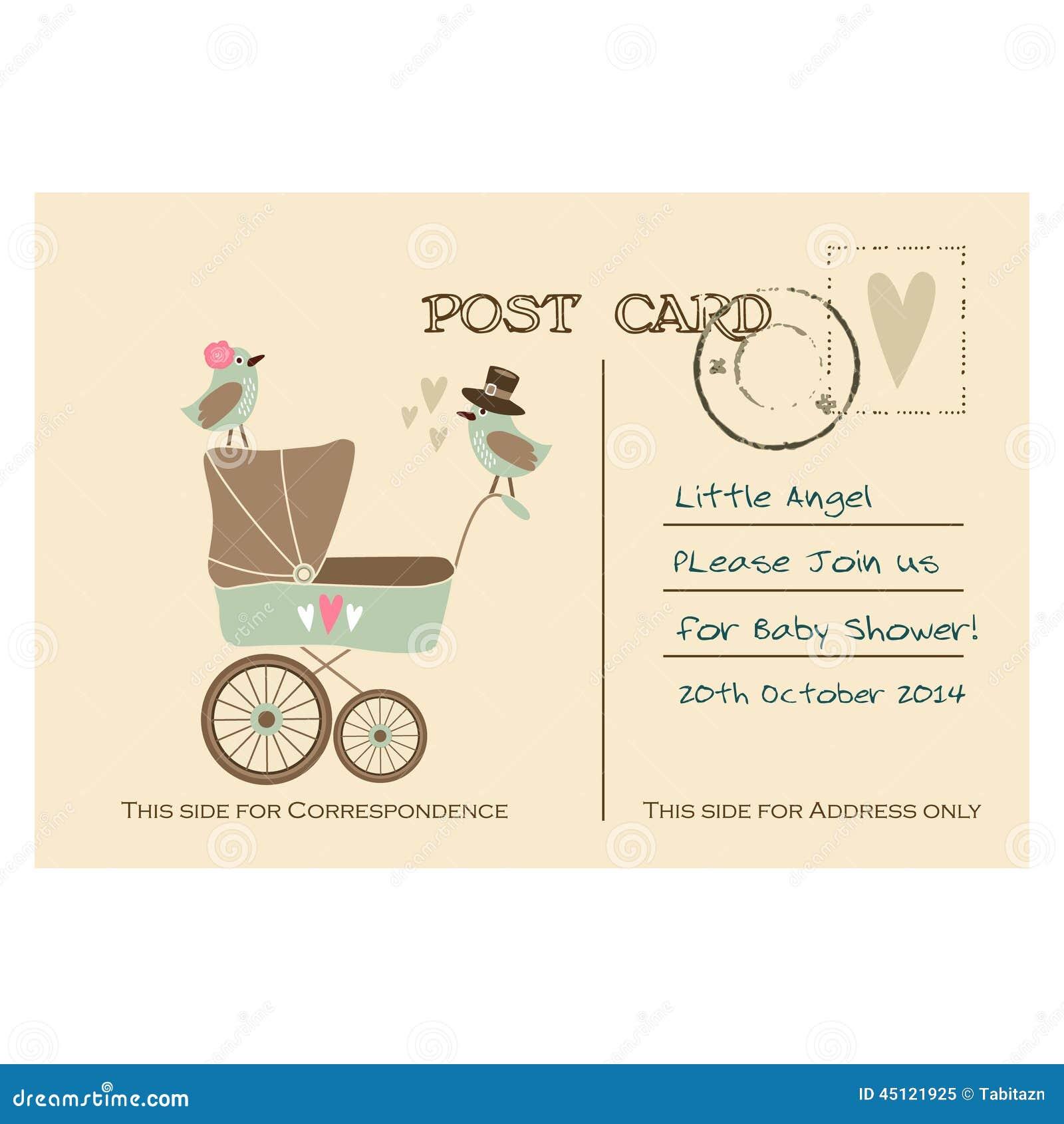 Carte Postale Mignonne De Salutation De Fête De Naissance De Vintage, Invitation Illustration de ...
